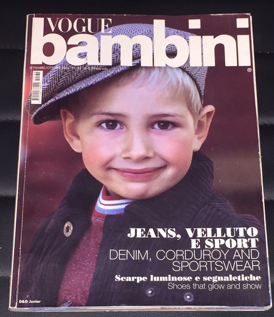 VOGUE BAMBINI Kids Children Enfant Fashion ITALIA Magazine September 2004
