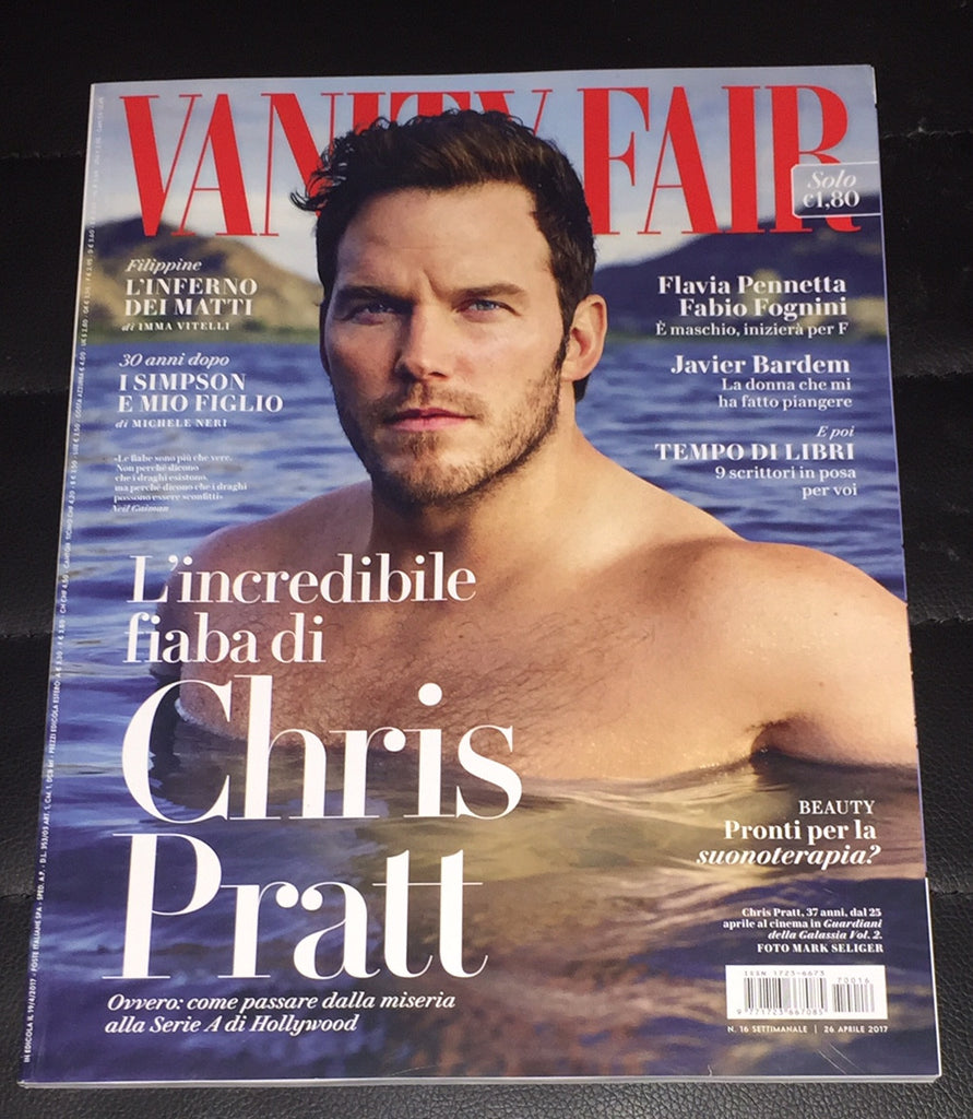 VANITY FAIR Italia magazine April 2017 CHRIS PRATT Javier Bardem BRITT ROBERTSON