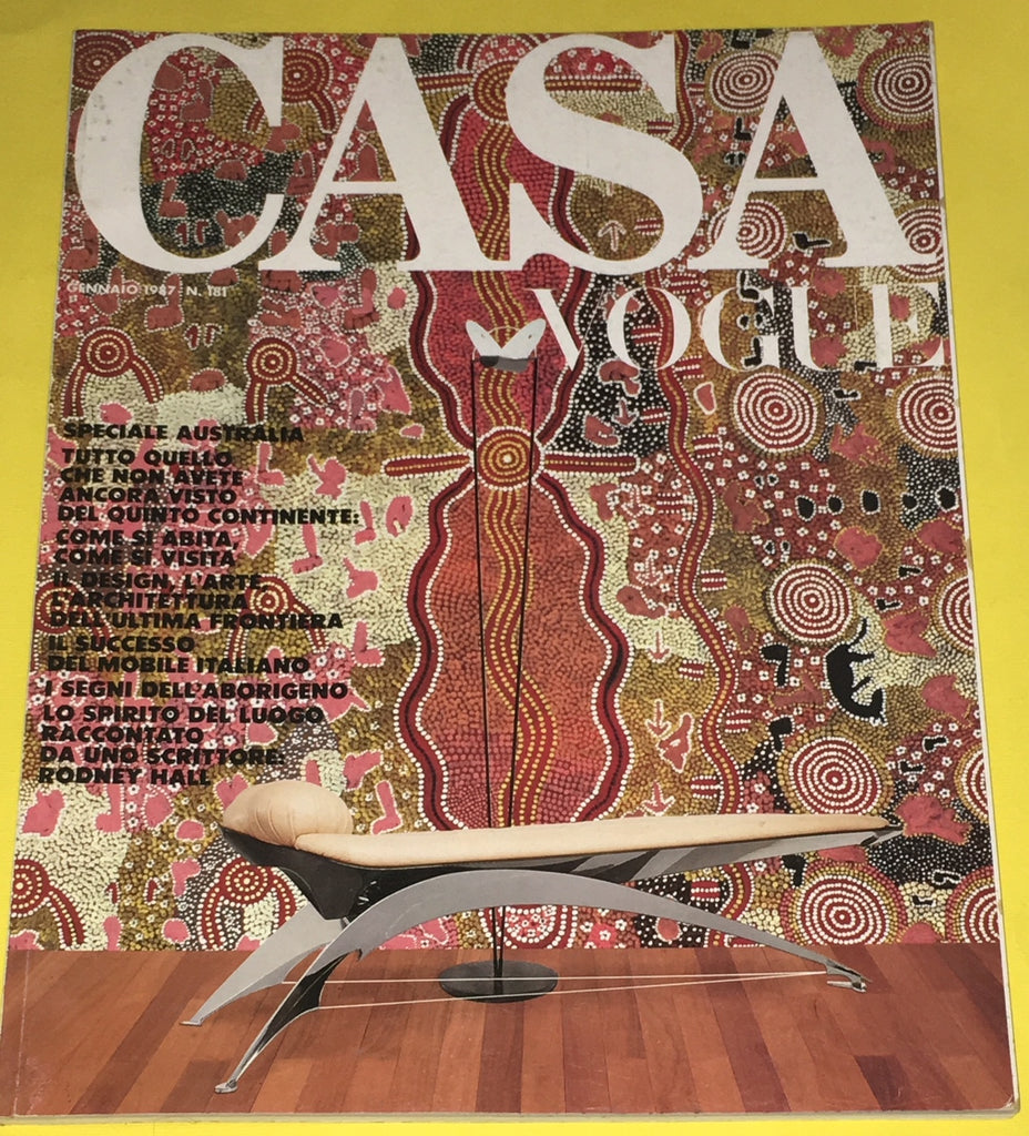 CASA VOGUE Magazine Italy January 1987 Issue #181 Vintage