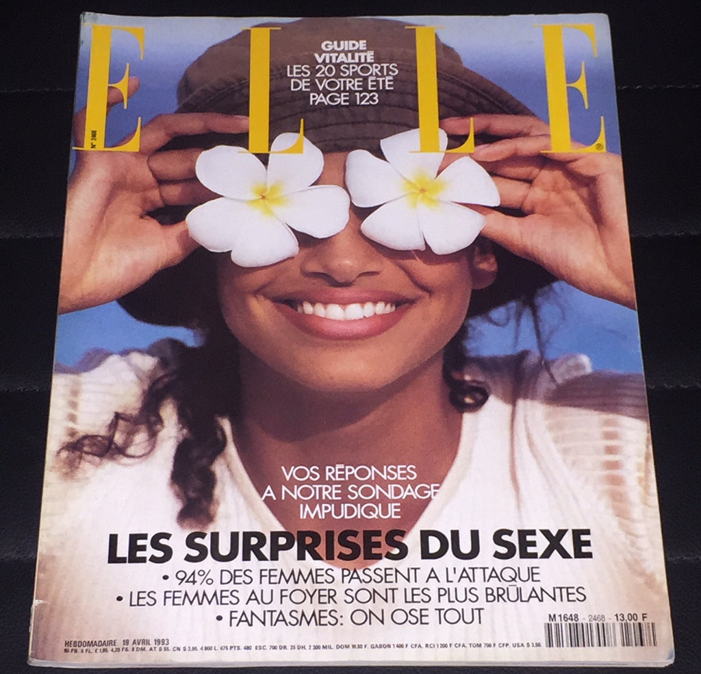ELLE France Magazine April 1993 BRANDI QUINONES