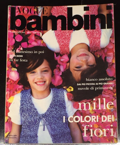 Vintage VOGUE BAMBINI Kids Children Enfant Fashion ITALIA Magazine March 1995