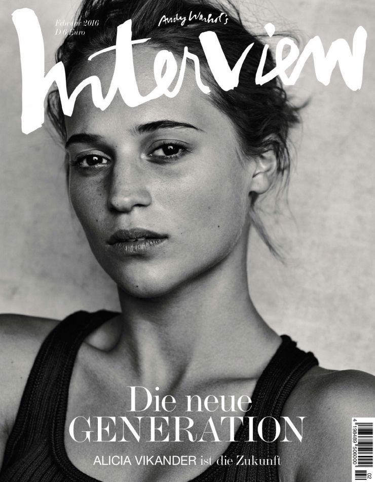 INTERVIEW Germany Magazine February 2016 ALICIA VIKANDER Jennifer Jason Leigh