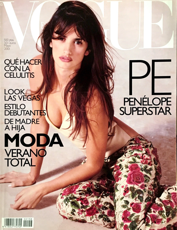 VOGUE Spain Magazine May 2001 PENELOPE CRUZ by HERB RITTS Neil Kirk
