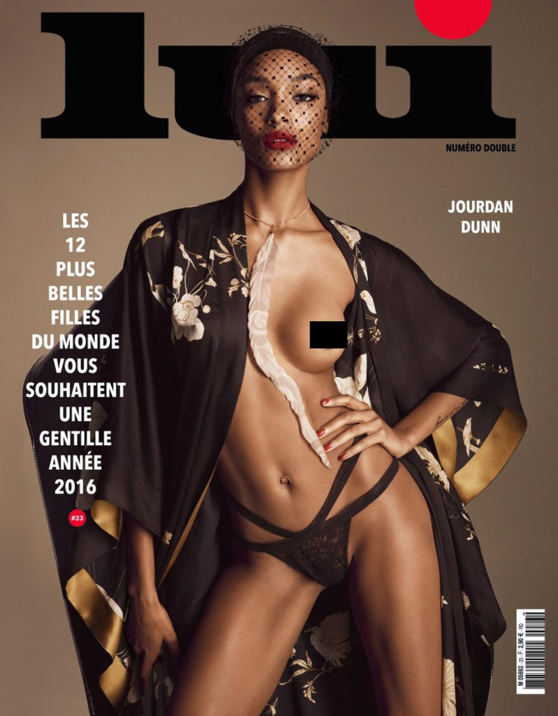 LUI Magazine 23 January 2016 JOURDAN DUNN Toni Garrn NATASHA POLY Boscono