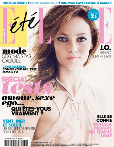 ELLE France Magazine August 2012 VANESSA PARADIS David Beckham