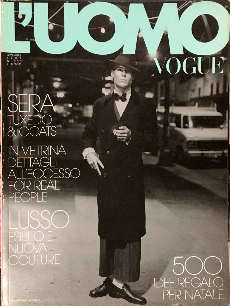 L' UOMO VOGUE Magazine December 1994 BOY GEORGE Sylvester Stallone STING Christopher Gibbs