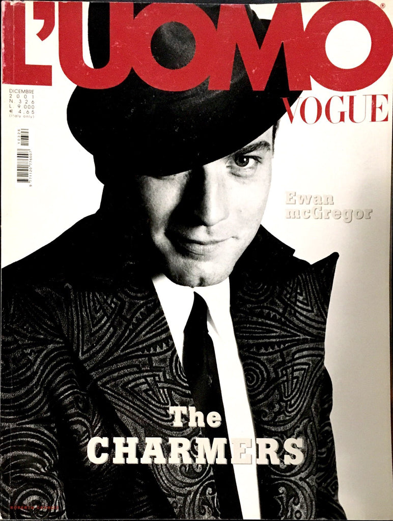 L'UOMO VOGUE Magazine December 2001 EWAN MCGREGOR David Bowie PERRY FARRELL Bruce Weber