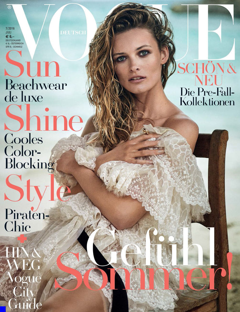 VOGUE Germany Magazine July 2016 EDITA VILKEVICIUTE Vivien Solari LIA PAVLOVA