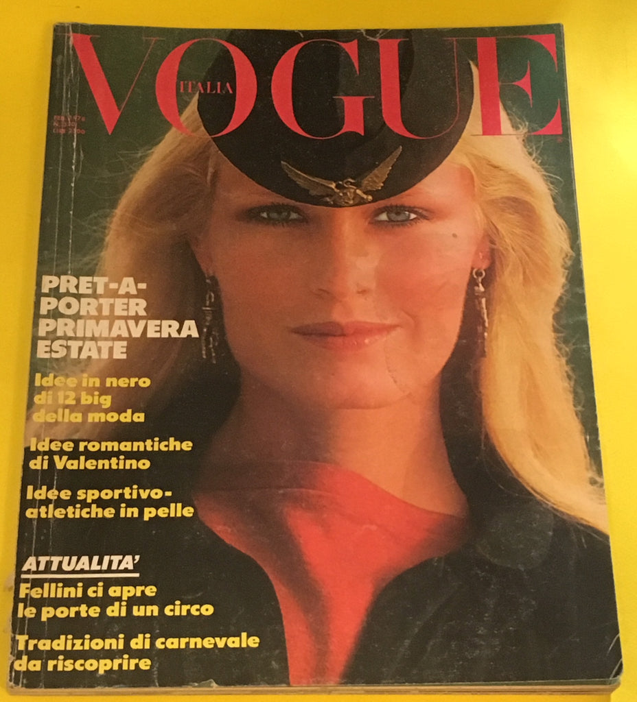 VOGUE Italia Magazine February 1978 GUNILLA LINDBLAD Linda Kerridge DAVID BAILEY