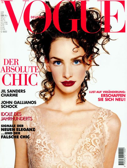 VOGUE Germany Magazine February 1995 DEBBIE DEITERING Isabella Rossellini LIZ HURLEY Michelle Hicks