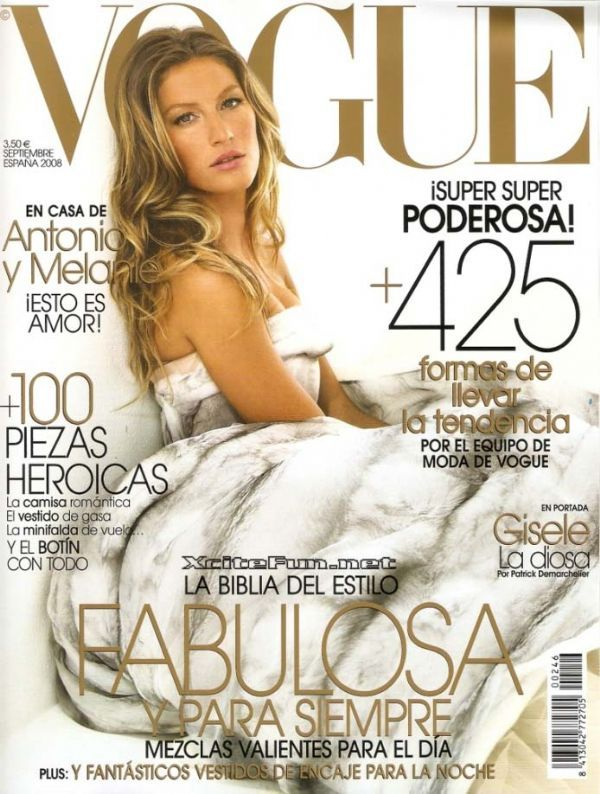 VOGUE Spain Magazine September 2008 GISELE BUNDCHEN Shannan Click LUCA GADJUS