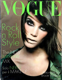 VOGUE Italia magazine April 1995 LAURIE BIRD Shalom Harlow BRUCE WEBER Kate Moss
