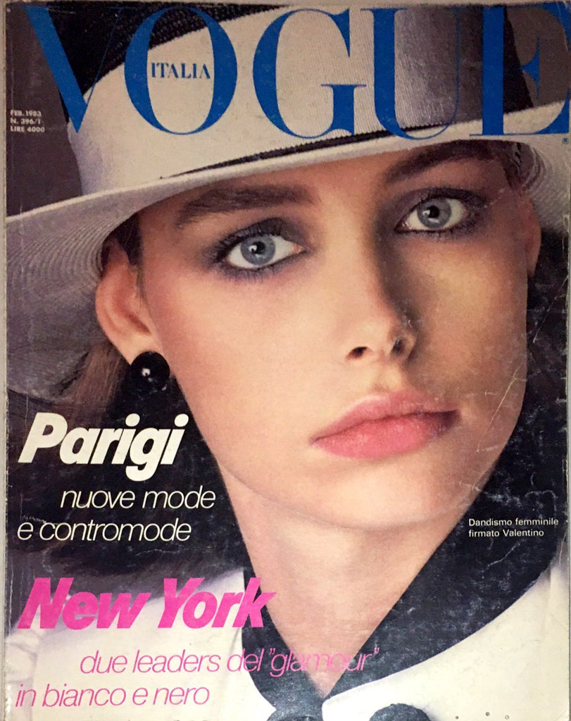 VOGUE Italia February 1983 LAUREN HELM Paulina Porizkova FRANCESCO SCAVULLO