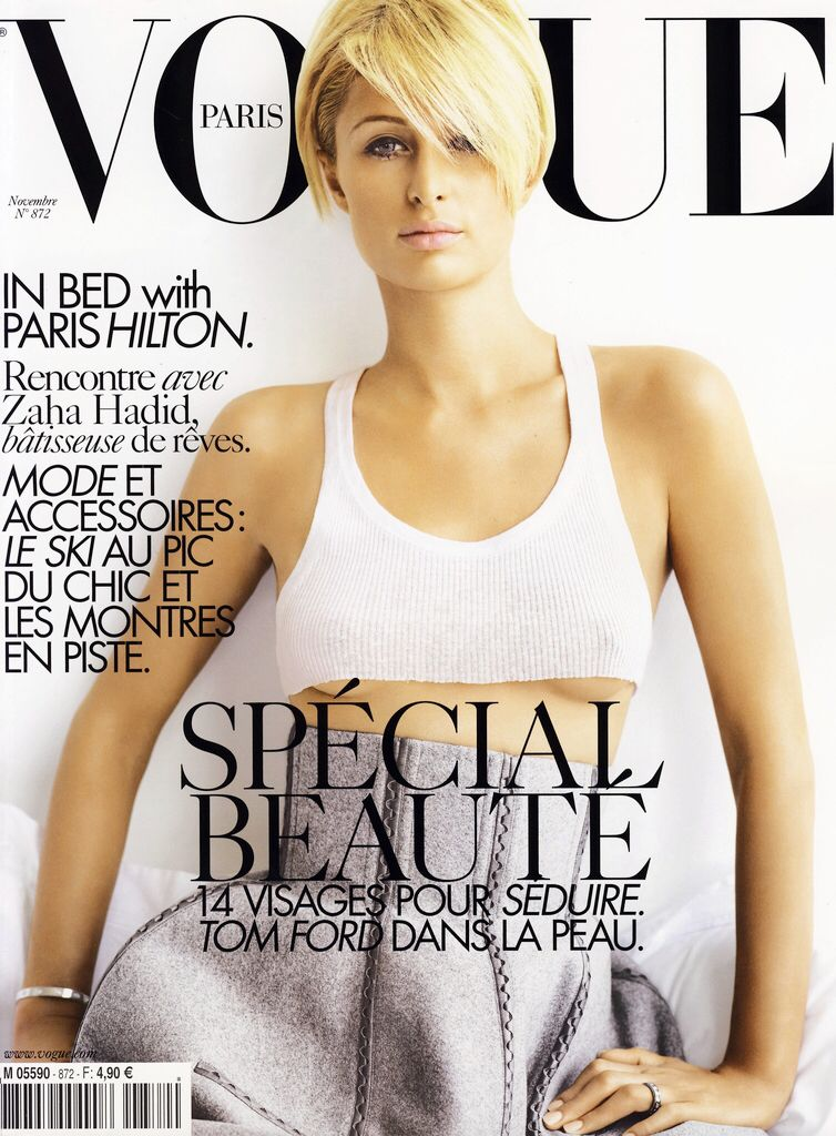 VOGUE Paris Magazine November 2006 PARIS HILTON Lara Stone MISSY RAYDER Iselin Steiro