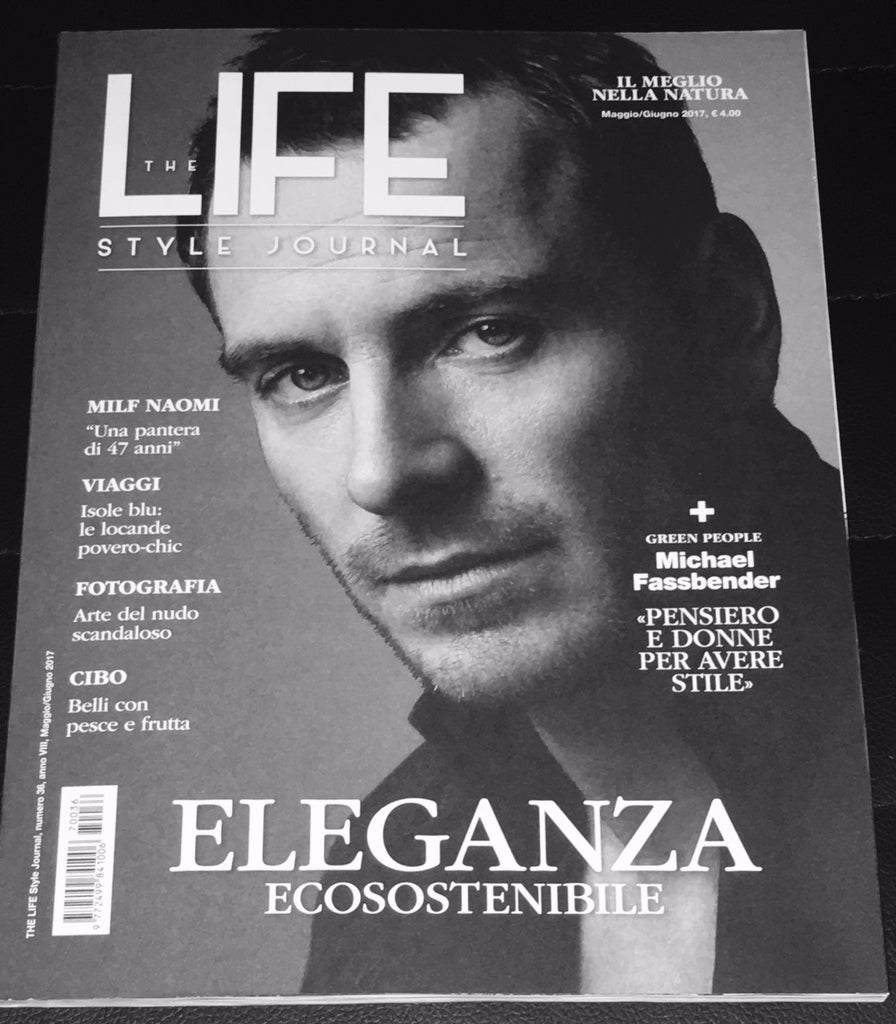 THE LIFE Magazine Italy 2017 MICHAEL FASSBENDER Roger Federer ROBERTO BOLLE Naomi Campbell