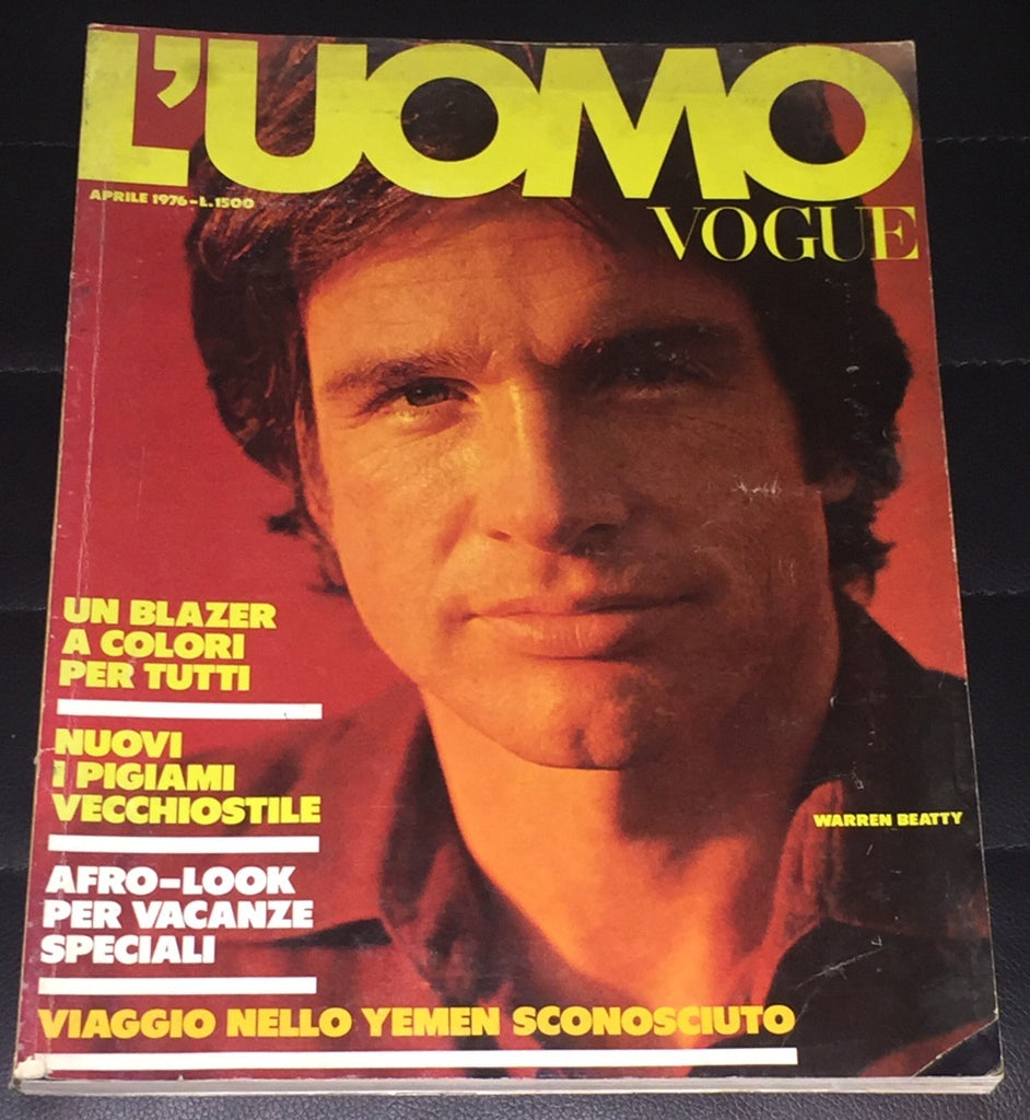 L'UOMO VOGUE Magazine Magazine April 1976 WARREN BEATTY Bryan Ferry