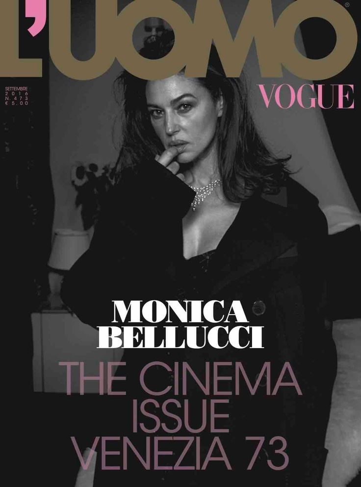 L'Uomo VOGUE Magazine September 2016 MONICA BELLUCCI Aaron Taylor Johnson ANDREW GARFIELD