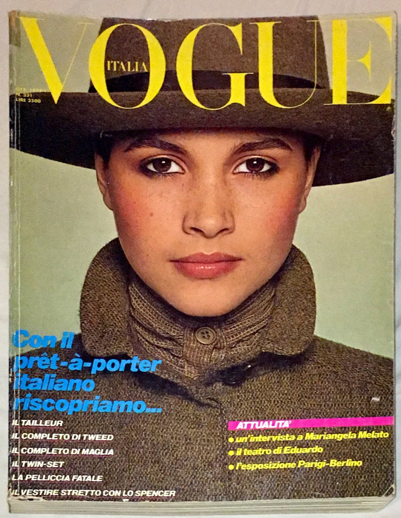VOGUE Italia Magazine October 1978 BEVERLY FARNWORTH Patti Hansen RENE RUSSO Rosie Vela