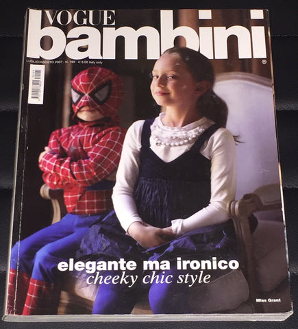 VOGUE BAMBINI Kids Children Enfant Fashion ITALIA Magazine July 2007