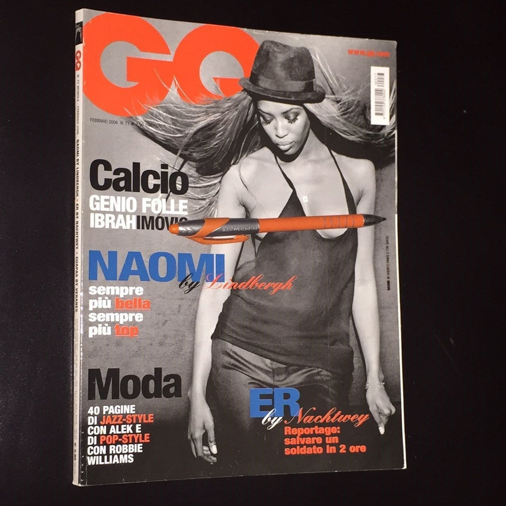 GQ Italia Magazine 2006 NAOMI CAMPBELL Peter Lindbergh ROBBIE WILLIAMS Alek Wek