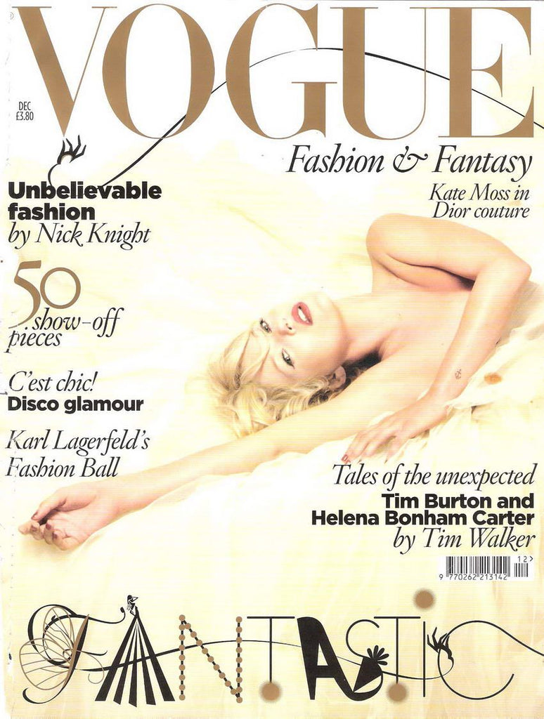 VOGUE UK Magazine December 2008 KATE MOSS Anja Rubik TIM BURTON Lily Donaldson
