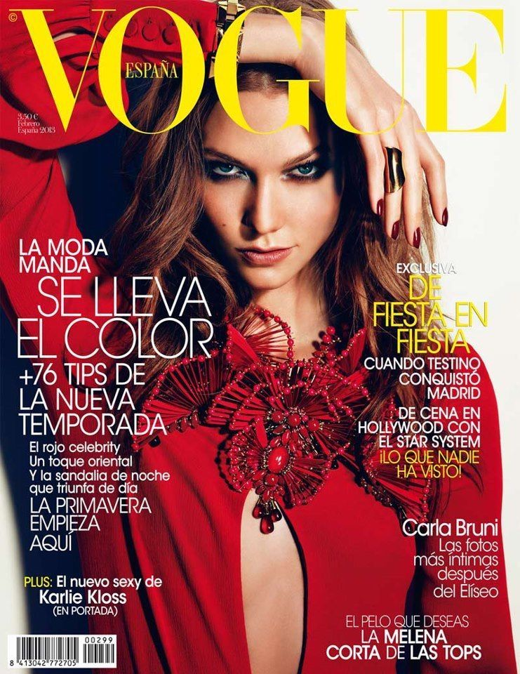 VOGUE Spain Magazine 2013 KARLIE KLOSS Hilary Rhoda JOURDAN DUNN