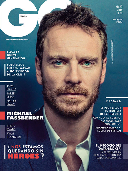 GQ Spain Magazine May 2016 MICHAEL FASSBENDER Raquel Welch JON KORTAJARENA