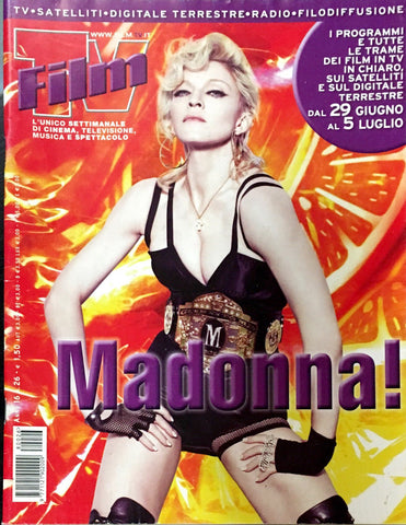 FILM TV Italian Magazine June 2008 MADONNA Anna Falchi