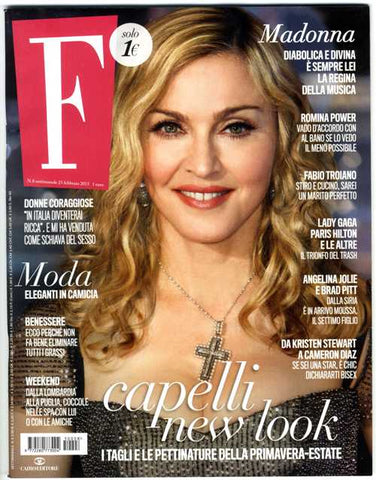 F Fashion Magazine February 2015 MADONNA Romina Power ELIZABETH TAYLOR Kristina Brown