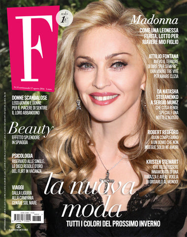 F Fashion Italian Magazine August 2016 MADONNA Robert Redford LAPO ELKANN