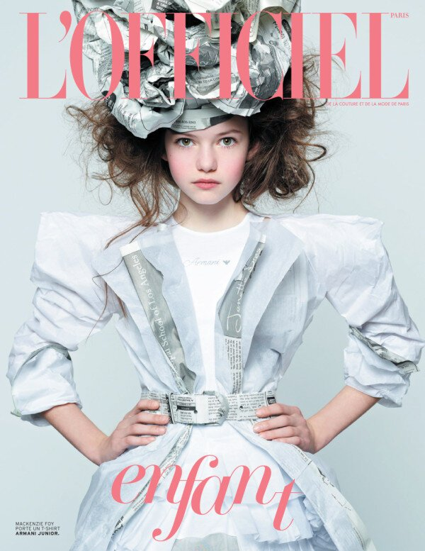 L'OFFICIEL Enfant KIDS Fashion Magazine BAMBINI March 2013 MACKENZIE FOY