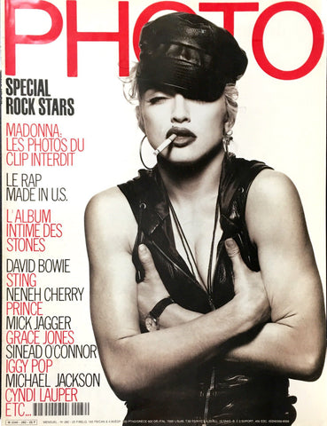 PHOTO Paris Magazine March 1991 MADONNA Tony Ward HERB RITTS