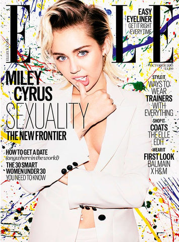 ELLE UK Magazine October 2015 MILEY CYRUS Stacy Martin BAMBI NORTHWOOD