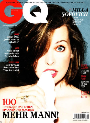 GQ Germany Magazine september 2010 MILLA JOVOVICH Bryan Ferry