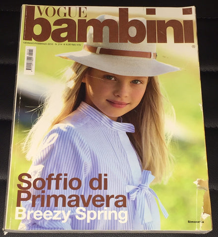 VOGUE BAMBINI Kids Children Enfant Fashion ITALIA Magazine January 2010
