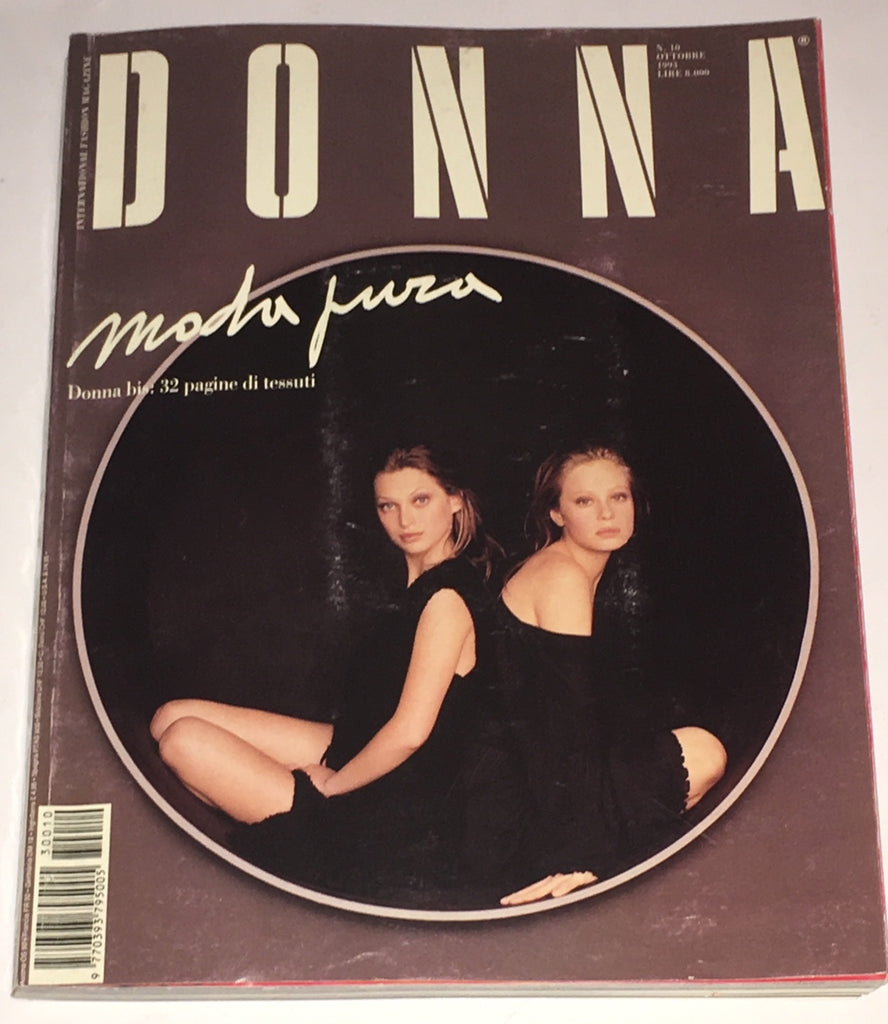 DONNA Magazine Italy 1993 NINA BROSH Heather Stewart Whyte BERI SMITHER Paolo Roversi