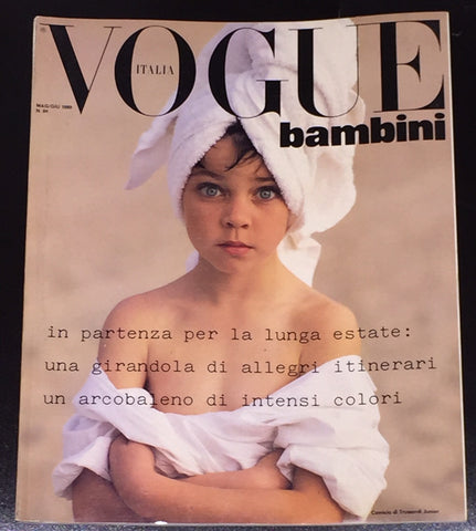 Vintage VOGUE BAMBINI Kids Children Enfant Fashion ITALIA Magazine May 1989