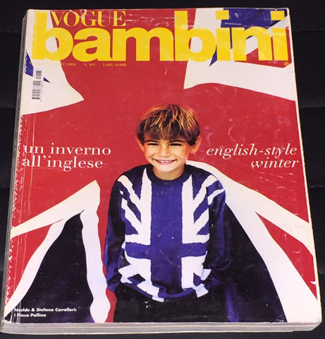 VOGUE BAMBINI Kids Children Enfant Fashion ITALIA Magazine July 2001