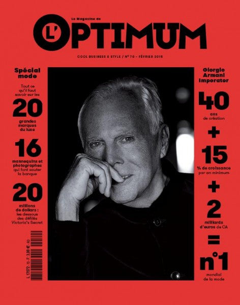 L'OPTIMUM Magazine February 2015 GIORGIO ARMANI Brand New