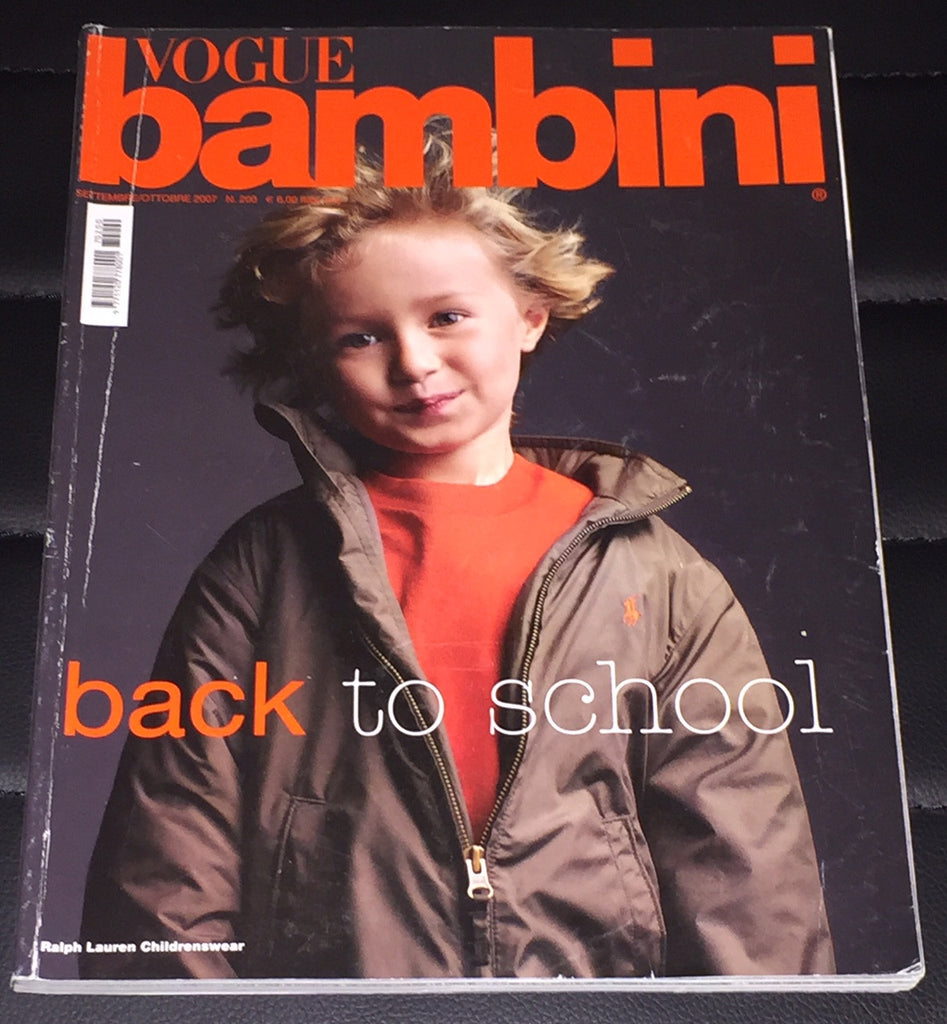 VOGUE BAMBINI Kids Children Enfant Fashion ITALIA Magazine September 2007