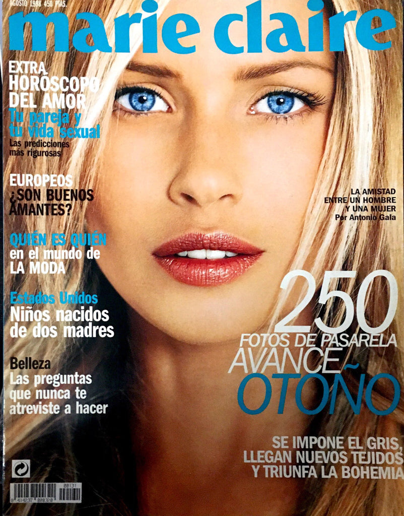 MARIE CLAIRE Spain Magazine August 1999 DANIELA PESTOVA Uma Thurman AINHOA ARTETA