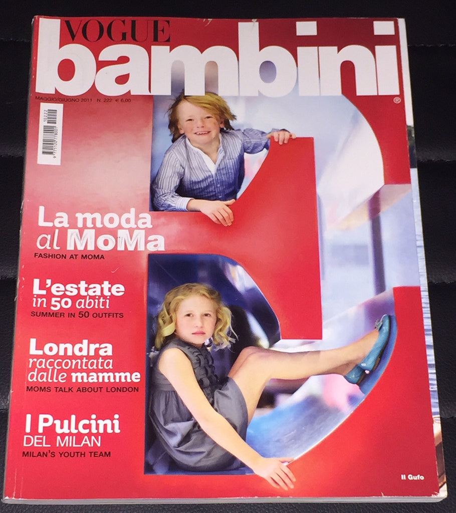 VOGUE BAMBINI Kids Children Enfant Fashion ITALIA Magazine May 2011