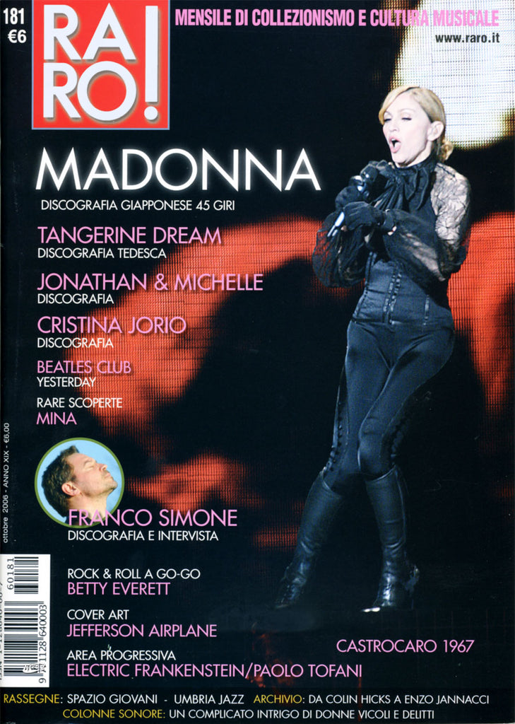 RARO! Magazine October 2006 MADONNA Japanese Discography from 1983 to 1989