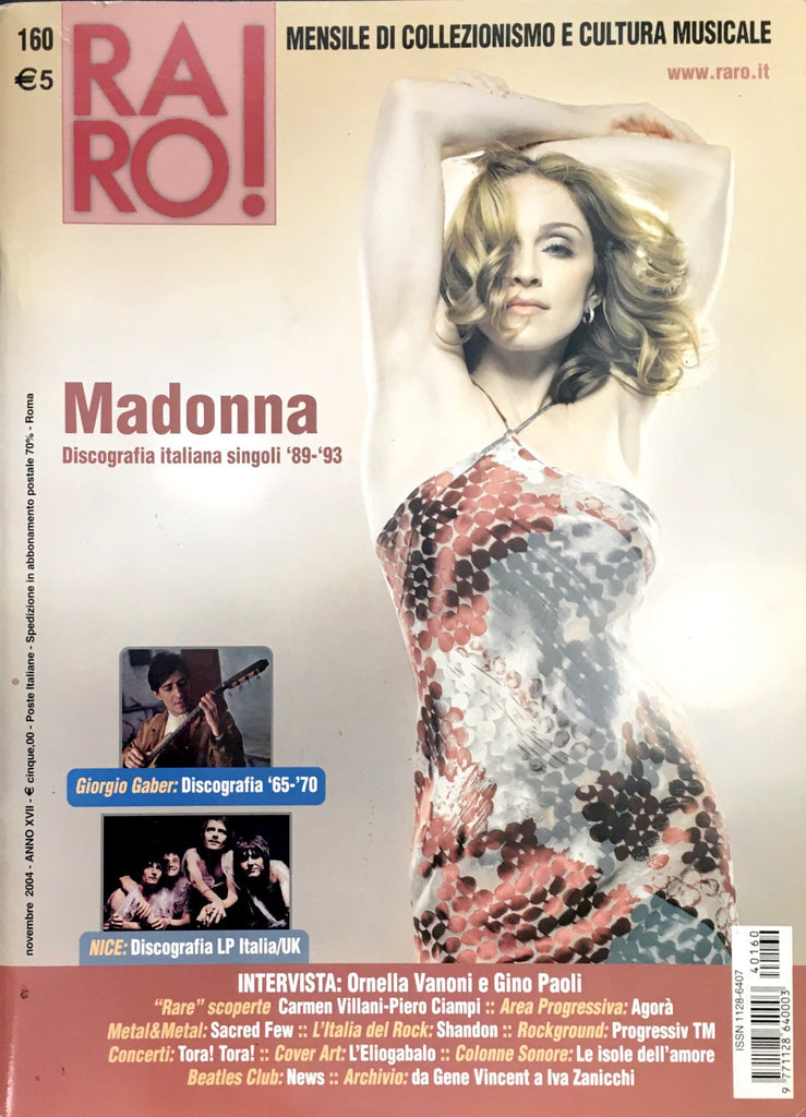 RARO! Magazine November 2004 MADONNA Discography from 1989 to 1993