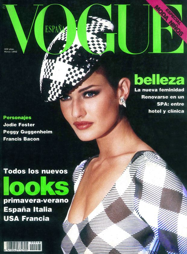 VOGUE Spain Magazine March 1992 KAREN MULDER Heather Stewart Whyte DANIELA PESTOVA