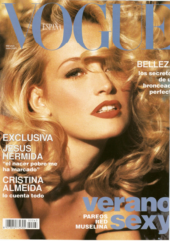 VOGUE Spain Magazine June 1993 ESTELLE LEFEBURE Andie McDowell BETTINA RHEIMS