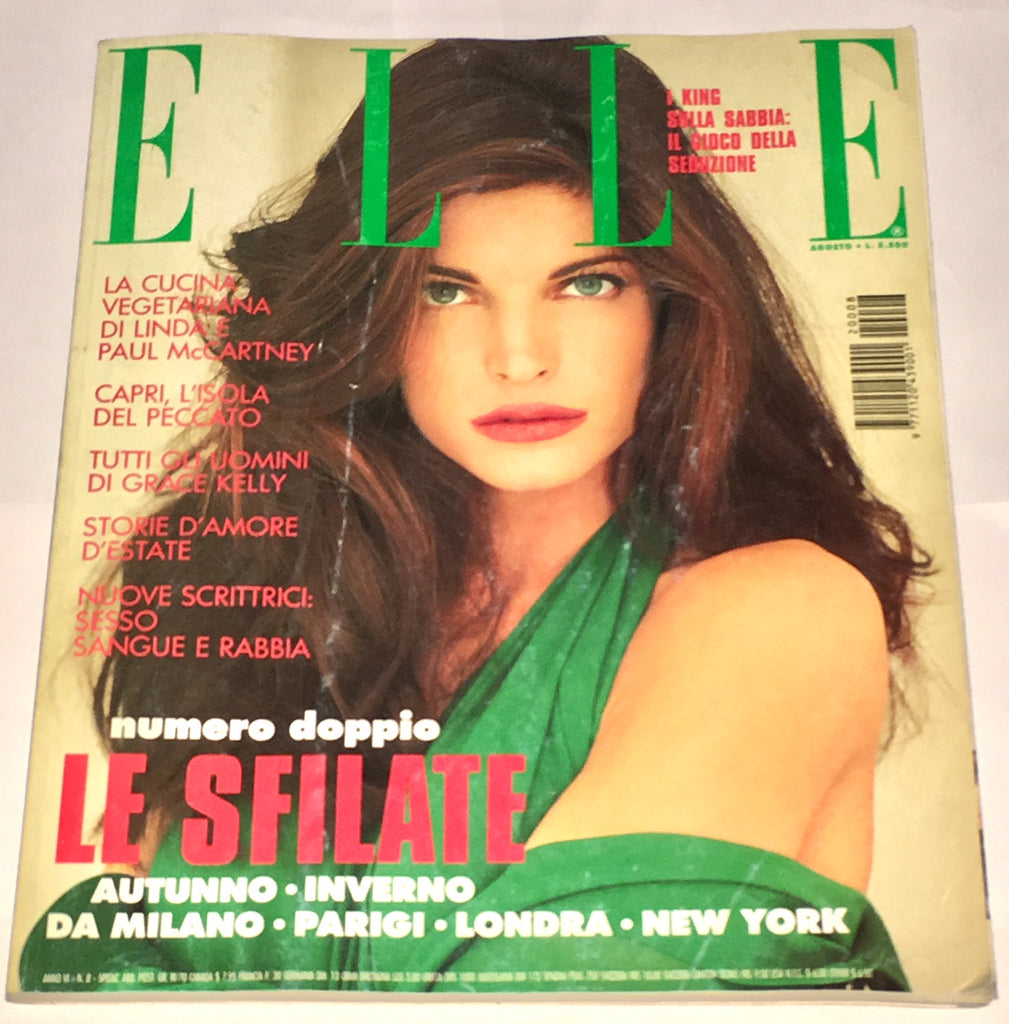 ELLE Magazine Italy August 1992 STEPHANIE SEYMOUR Claudia Schiffer GRACE KELLY