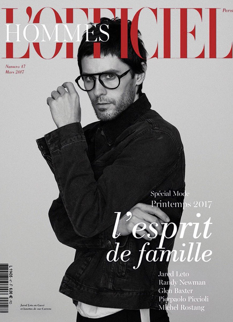 L'OFFICIEL HOMMES Magazine March 2017 JARED LETO Thomas Whiteside RANDY NEWMAN