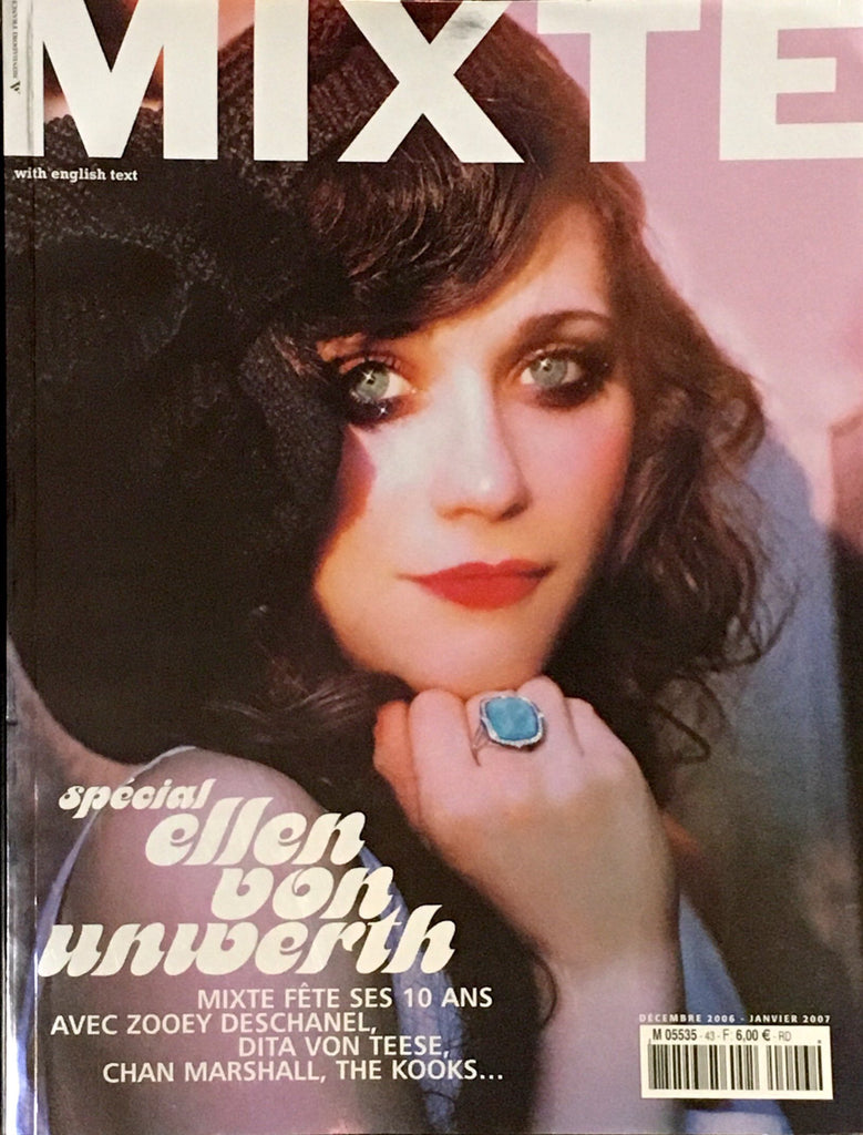 MIXTE Magazine 43 December 2006 ZOOEY DESCHANEL Dita Von Teese ERIN HEATHERTON Cat Power