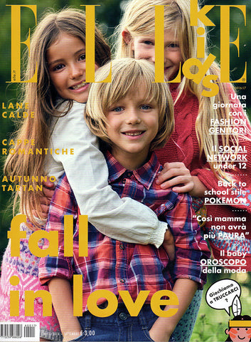 ELLE KIDS Junior Children Enfant Fashion BAMBINI Magazine September 2016